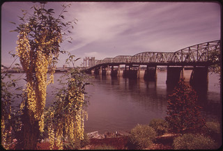 The Interstate Bridge Which Connects Portland and Vancouver, Washington, Is the Only Columbia River Crossing for 50 Miles 05/1973 | by The U.S. National Archives