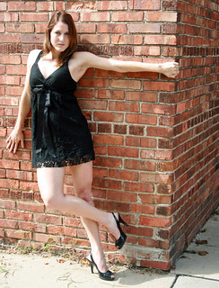 Beautiful Female Model in Black Dress and Highheels | by PhotoAmateur1