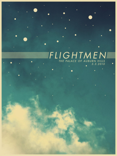 flightmen gig poster | by bryce driesenga