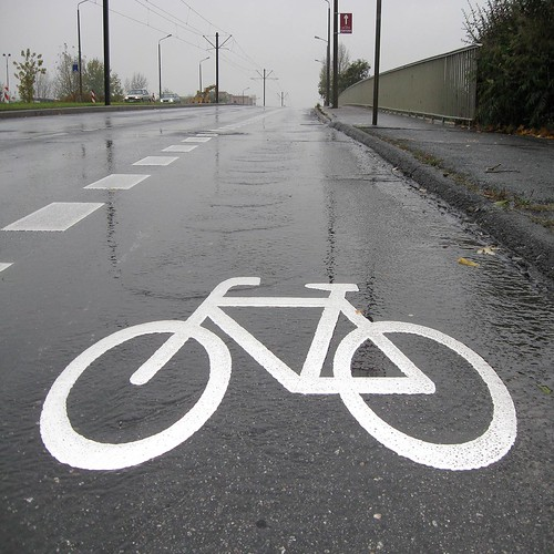 quantal rainwater is swapping down over fill-in flashed bicycle sign | by oedipusphinx — — — — theJWDban