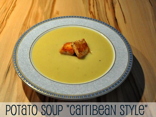 Potato Soup Carribean style with salmon | by - Caillean -