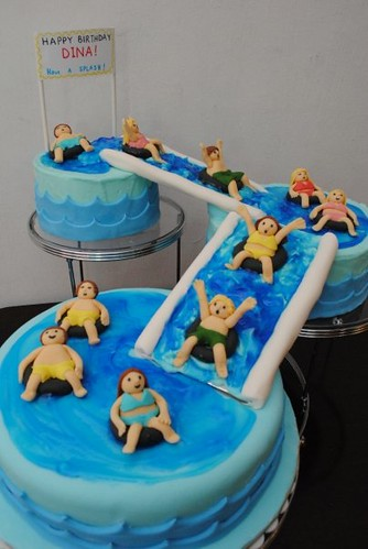 Swimming Pool Cake Cake Made For My Dearest Friend Julie F Flickr