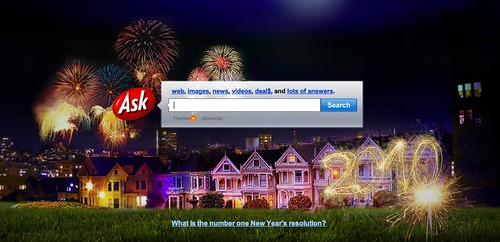 Ask.com New Years Logo | by rustybrick
