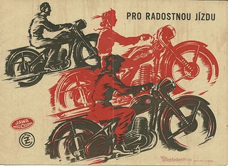 Jawa and CZ motorcycle brochure, 1953 | by Hugo-90