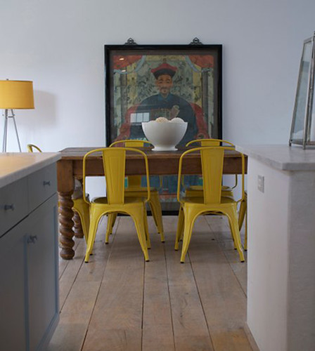 yellow tolix chairs | by the style files
