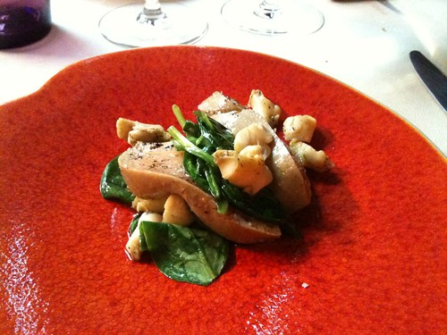 Yam'Tcha: Landes foie gras with whelks (bulots) and spinach | by clotilde