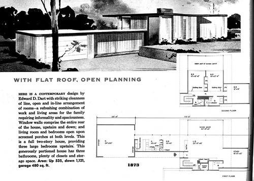 Plan 1873 Architect Edward Dart New Homes Guide 1956
