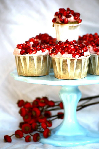Pomegranate Green Tea Cupcakes | by chockylit
