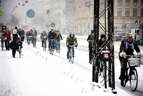 Nørrebrogade Afternoon - Cycling in Winter in Copenhagen | by Mikael Colville-Andersen