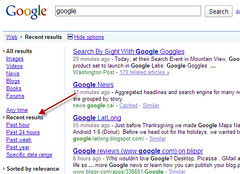 Google Options After Real Time Search | by Search Engine People Blog