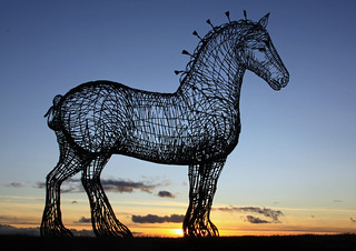 Glasgow's heavy horse sculpture just off the west bound M8 motorway,  Scotland | by David May