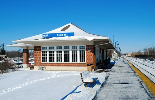 Metra Station Antioch Illinois North Central Service