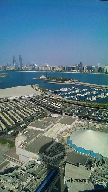 Abu Dhabi viewed from Tiara revolving restaurant
