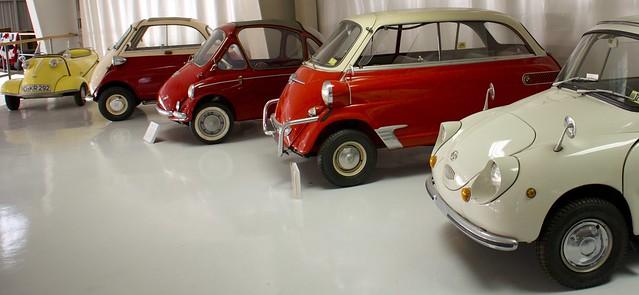 Many mini cars...