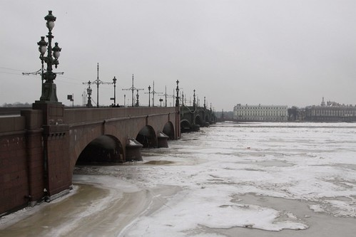 Looking over the Тро́ицкий мост (Trinity Bridge) from Petrogradsky District