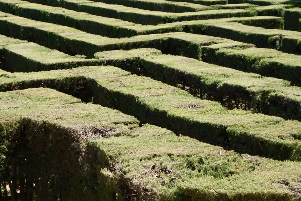 >Labyrinthe d'Horta à Barcelone.