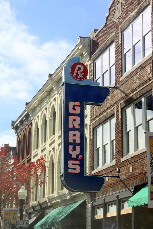 Gray's Neon Sign - Franklin, TN