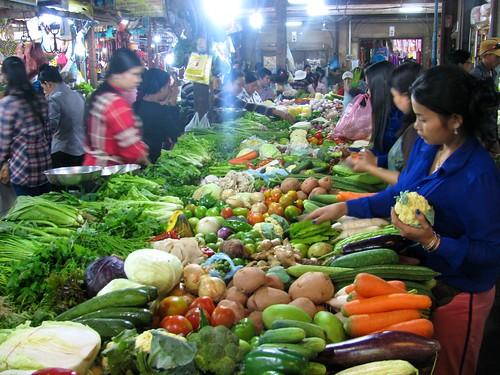 Mercado en Siem Reap