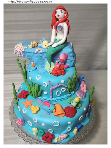 The Little Mermaid cake | by Dragonfly Doces