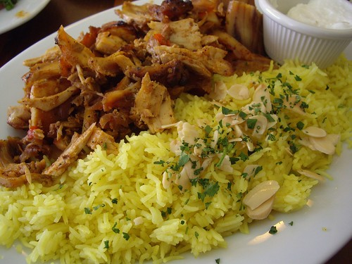 Chicken Schwarma and Saffron Rice from Lavash Cafe (Clintonville, OH) | by swampkitty