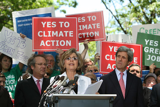 Sens. Barbara Boxer and John Kerry at the Climate Action Rally - June 2, 2008 | by national_wildlife_federation