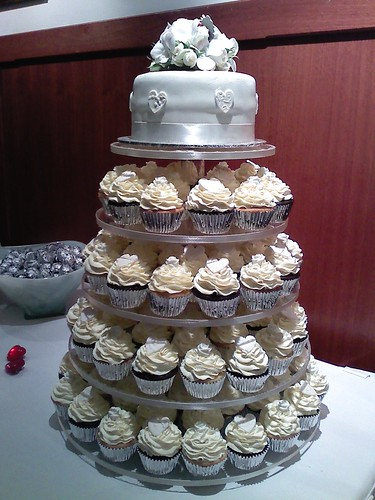 White wedding cupcake tower | by American Candy Stand Cupcakes (Aust.)