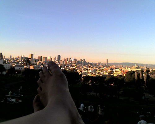 dolores park view w/feet | by Mission Mission