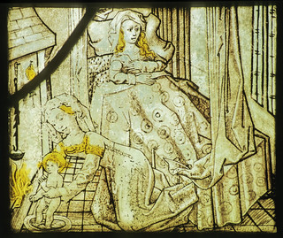 South Ormsby, St Leonard, sII, 1b, Nativity with midwife bathing Christ child, 1470-1500 | by gordonplumb