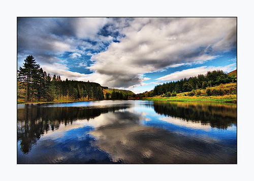 Loch Tree Clouds Reflections | by Magdalen Green Photography