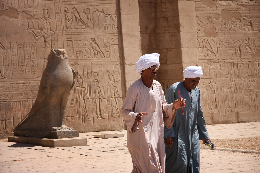 Discussion At Edfu Temple, Egypt