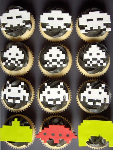 Retro Space Invaders Cupcakes | by clevercupcakes