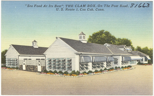 sea food at its best the clam box on the post road u s route 1 cos cob conn flickr. Black Bedroom Furniture Sets. Home Design Ideas