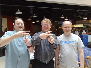 Gary Burd (new FriendFeed employee) has lunch with us (he's on right). | by Robert Scoble
