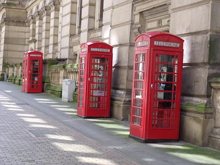 Red phone boxes - Eden Place, Birmingham | by ell brown