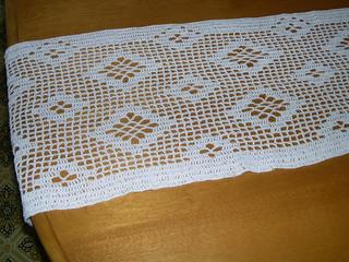 Filet Crochet Table Runner Flickr Photo Sharing