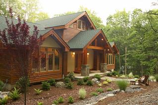 Entry of lindal cedar home in new jersey lindal cedar for Lindal log cabin homes