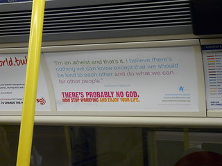 Atheist Campaign on Tube Train | by Loz Flowers