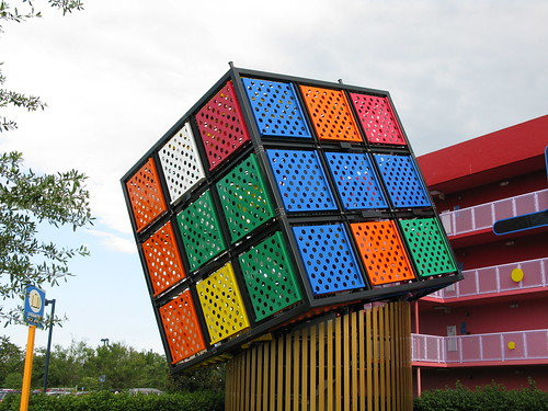 Pop Century Rubik 39 S Cube There 39 S Also A Giant Big Wheel