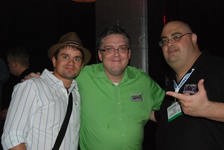 Marcus Tandler, Daron Babin, and Brasco at WebMasterRadio Search Bash at SES San Jose 2008 | by storyspinn