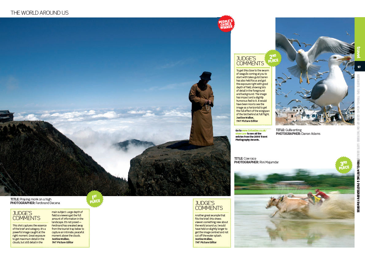 18th TNT Magazine London Travel Writing and Photography Awards