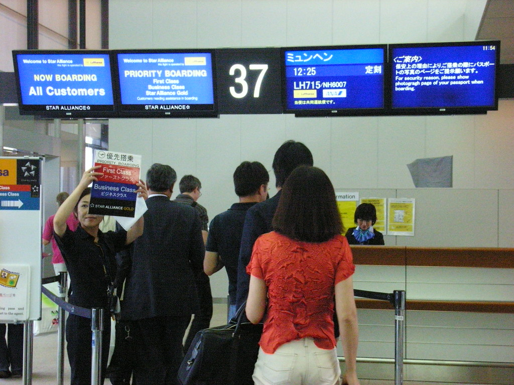 Narita Airport T1 departure gate for LH715 to Munich