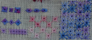 Algerian eye and eyelet stitch | by stitchingbushwalker
