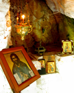 St. Nicholas Church inside a cave near Argiroupolis on the Greek island of Crete | by Peace Correspondent