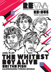 The Whitest Boy Alive poster for Refract 9 | by Refract Festival