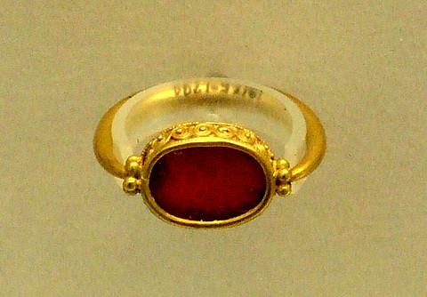 Carnelian Ring Gold