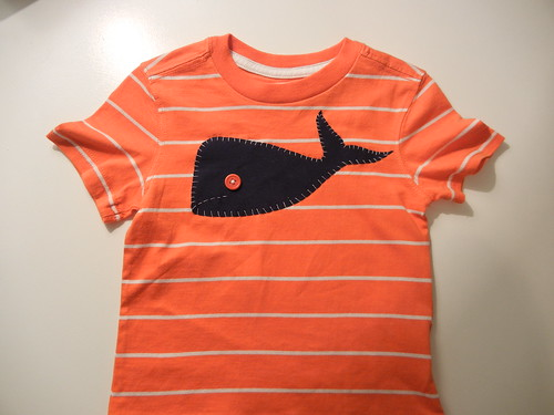 Striped Whale Shirt | by thedomesticatedmama