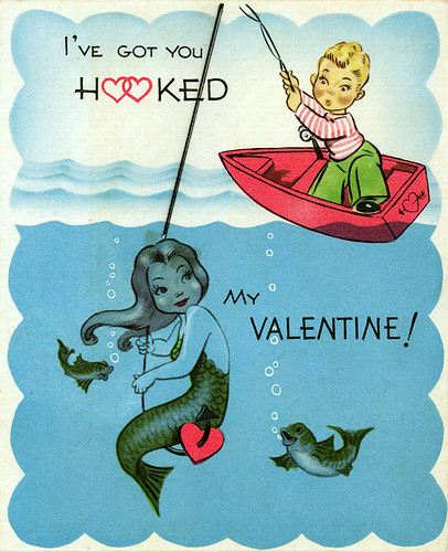 Vintage Mermaid Valentine Card | by Neato Coolville