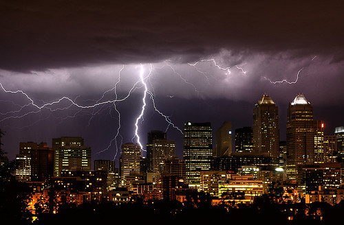 Calgary Stampede Lightning | by midwinterphoto