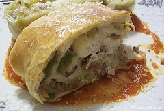 Sausage & Pepper Stromboli | by CinnamonKitchn