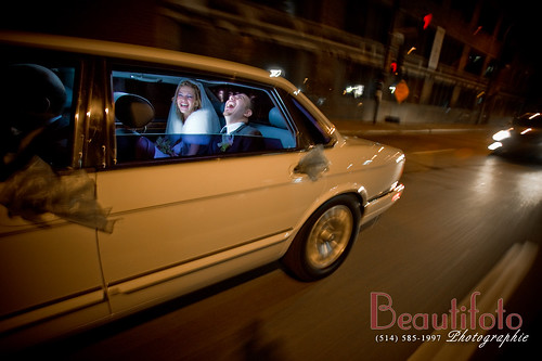 Fun on the way to the reception | by beautifoto